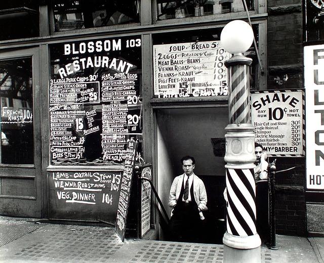 fachada de uma barbearia antiga